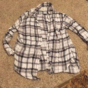 Women's extra long flowy flannel